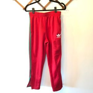 Adidas Red and Green Track Pants